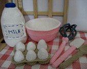Crochet Pink Play Baking Set