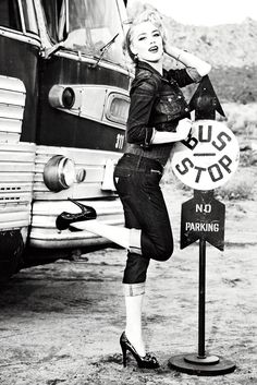 Guess Fall 2011 Campaign   Amber Heard by Ellen von Unwerth   Fashion Gone Rogue: The Latest in Editorials and Campaigns Buses, Amber Heard, Marilyn Monroe, Ellen Von Unwerth, Busstop, Pinup, Amberheard, Photo Shoots, Bus Stop