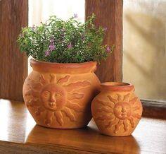 pretty pots , terra cotta