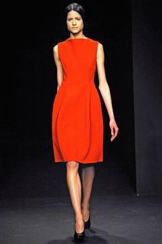 A red dress at Calvin Klein
