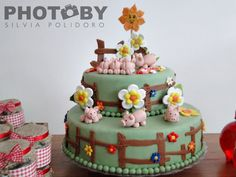 Cute Farm Party Cake #farm #partycake