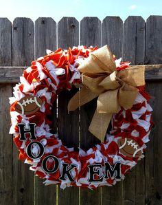 Texas Longhorn Football Team Spirit Wreath