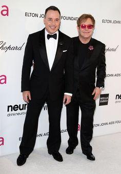 Elton John & David Furnish (Elton John´s Oscar party 2013).