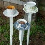 feed the birds teas, bird feeders, alice in wonderland, plants, gardens, old houses, tea cup, teacups, birds