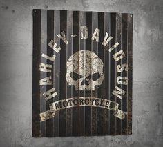 Corrugated Aluminum Skull Sign