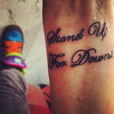 My down syndrome tattoo for my brother <3 GOD BLESS U AND UR BROTHER. LOVE UR TAT....I LOVE THIS PIN I FOUND