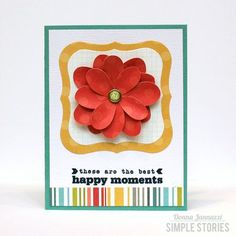 Card created by design team member Donna Jannuzzi using our Daily Grind collection and Spellbinders dies
