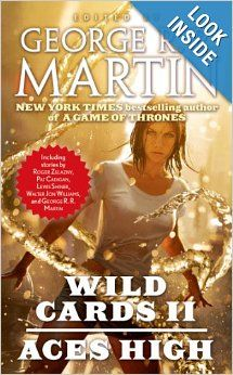 Wild Cards II: Aces High by George R.R. Martin.  Cover image from amazon.com.  Click the cover image to check out or request the science fiction and fantasy kindle.