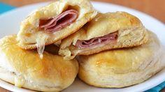 Stuffed Honey-Ham Biscuits