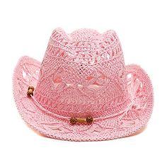 Pink Crochet Cowboy Hat