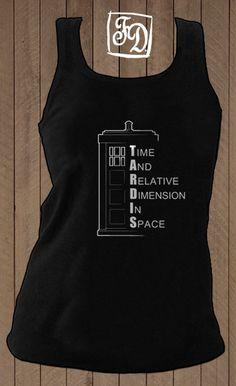 black #TARDIS tank top. #DoctorWho