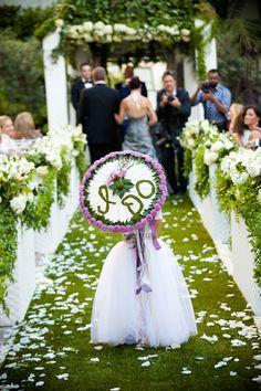 Perhaps the prettiest #flowergirl parasol we have EVER seen!