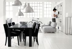 black white gold dining room - Google Search