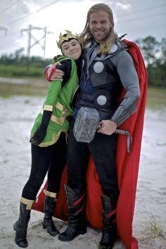 Little Loki and Big Brother Thor