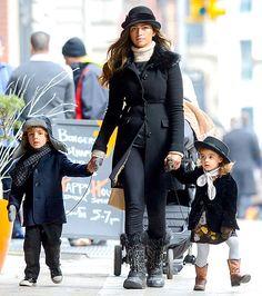 Glam fam! Camila Alves and kids Levi and Vida.