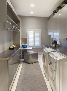 Very simple yet modern-looking laundry room