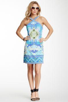 cute printed halter dress ++
