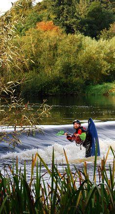 Slane Castle Weir - Kayaking on the River Boyne at Slane Castle.