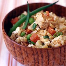 Weight Watchers Chicken Fried Rice - Delicious!!! weight watchers, rice recipes, cooking spray, healthy chicken, egg whites, comfort foods, weight watcher recipes, recipe chicken, fried rice