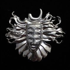 """2"""" Shpongle #2 pin (Silver)"""