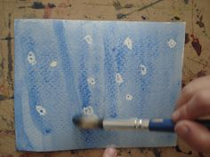 Wax Resist Painting- Stars and Constellations