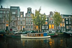 Houses on the canals in Amsterdam
