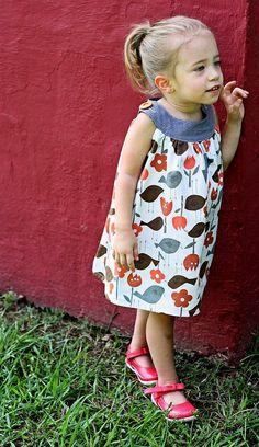 adorable little girl's summer dress