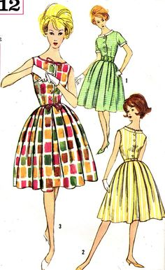 Vintage 1960's Simplicity Sewing Pattern.