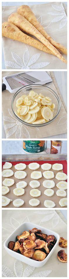 Maple Cinnamon Parsnip Chips