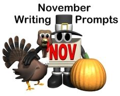 This page contains a large list of creative writing prompts for November and Thanksgiving.