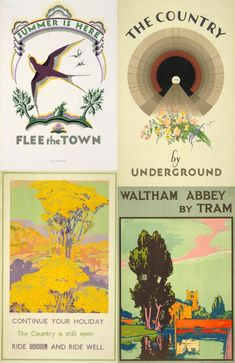 I love these posters from the London Transit Museum!