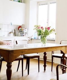 kitchen table: love this table so much....