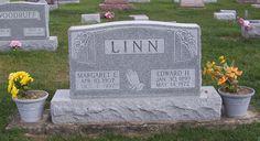 Edward H & Margaret E Linn, Zion Lutheran Cemetery, Mercer County, Ohio. (2011 photo by Karen) #genealogy #familyhistory