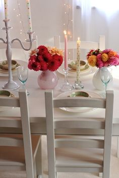 White dining table makeover. I'd still have to buy a set to redo though. dine room, table makeover, dine tabl, white dine, tabl makeov, white dining tables
