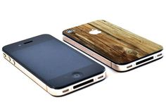 Natural wood vinyl iPhone 4 skin sticker decal
