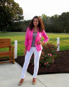 Summer Look: Pink, Stripes & White