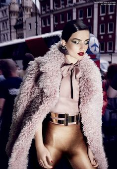 Venus in Furs: Andreea Diaconu in Gucci Fall 2014 coat by Sølve Sundsbø for V Magazine Fall 2014