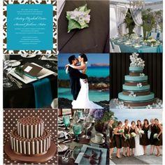 Brown & Blue Wedding