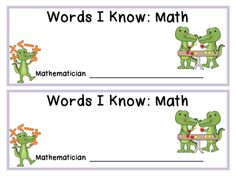 Here's an alphabetical strip booklet for recording math vocabulary over the course of the year or for a particular unit.