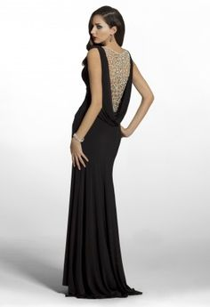 Homecoming Dresses - Jersey Cowl Back Dress from Camille La Vie and Group USA