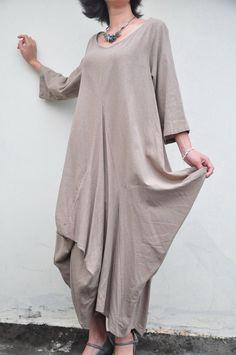Great Wall/pleated romantic long half sleeves dress/12 colors/custom made. $87.00, via Etsy.