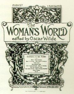 Twitter / womeninclothes: For two years Oscar Wilde edited ...