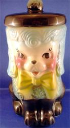 Vintage Poodle Cookie Jar