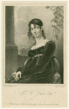Mrs. H. Johnston. Engraving by James Hopwood after a painting by Moses Haughton. Published for J. Bell, Southampton Street, Strand Octr. 1st, 1812.