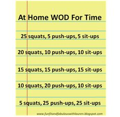Do you have 10 minutes? Then you have time for this body weight only WOD!