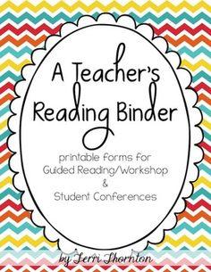A Teacher's Reading Binder | Terri Thornton | {K-6}