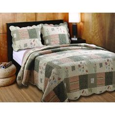 #8: Greenland Home Sedona Full/Queen 3-Piece Quilt Set