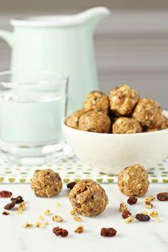 Healthy oatmeal raisin no-bake bites.