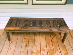 bench from pallets for deck