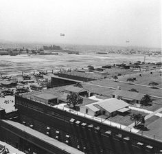 Photo of an aircraft factory disguised by a fake suburban housing tract built on its roof. Click thru for the article. Great analysis of Los Angeles' architecture  personality developing during World War II